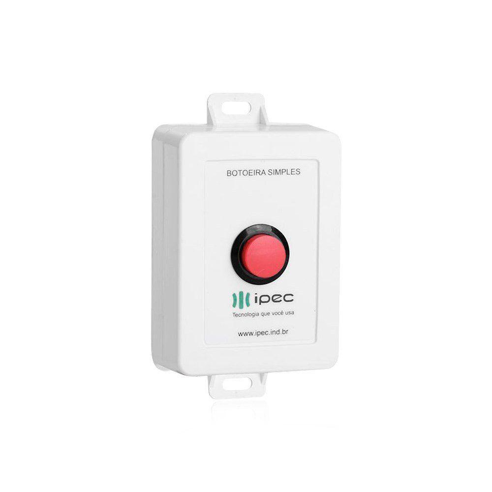Botoeira IPEC Simples Sem fio 433,92 Mhz Código Fixo