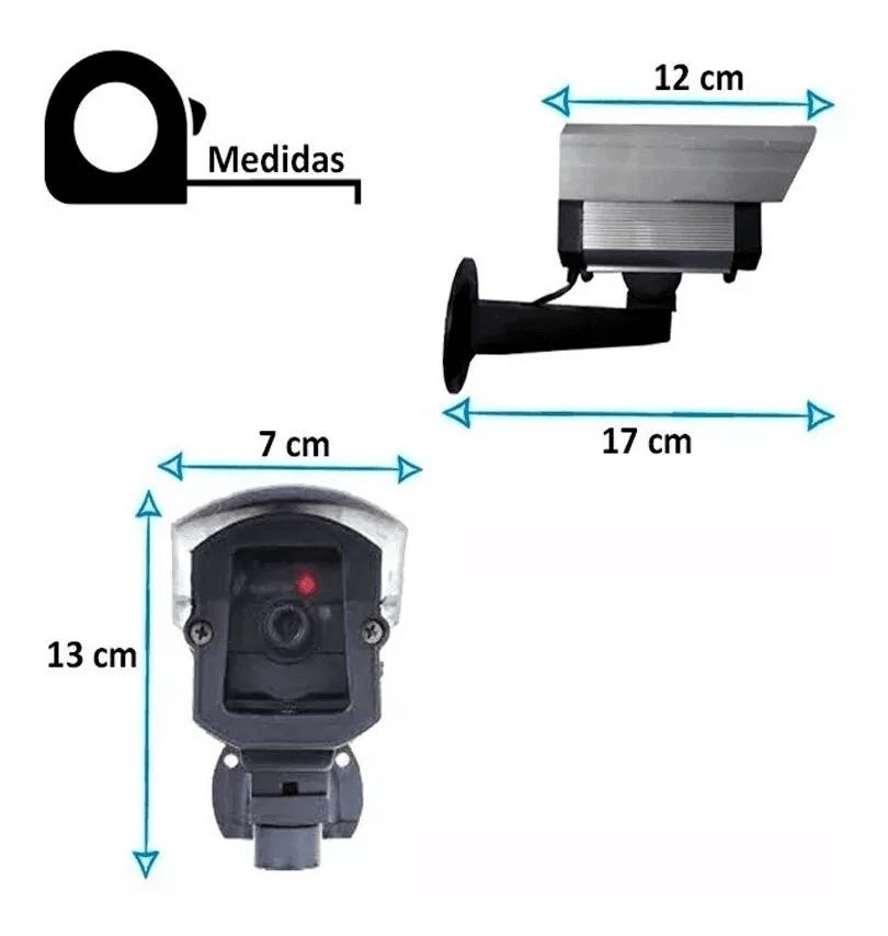 Câmera de Segurança Falsa Com Led + Bateria e Placa