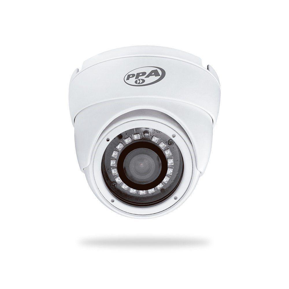 Câmera PPA AHD-M Dome Metal 720p IR 1/4 2.8mm 20 Metros
