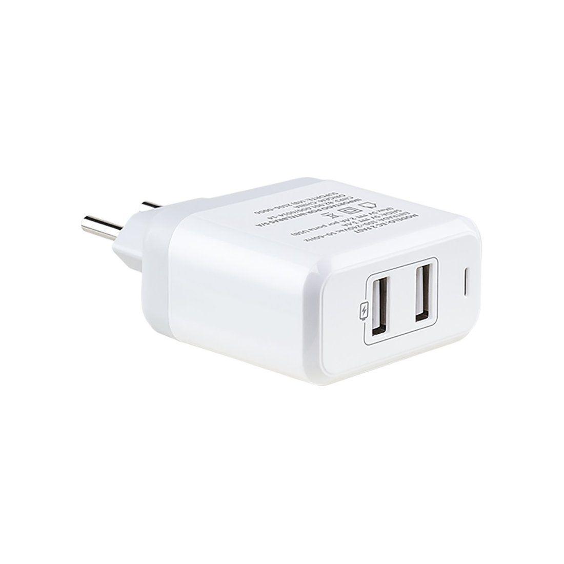 Carregador USB Intelbras EC 2 Fast de 2 portas USB e 2,4 A
