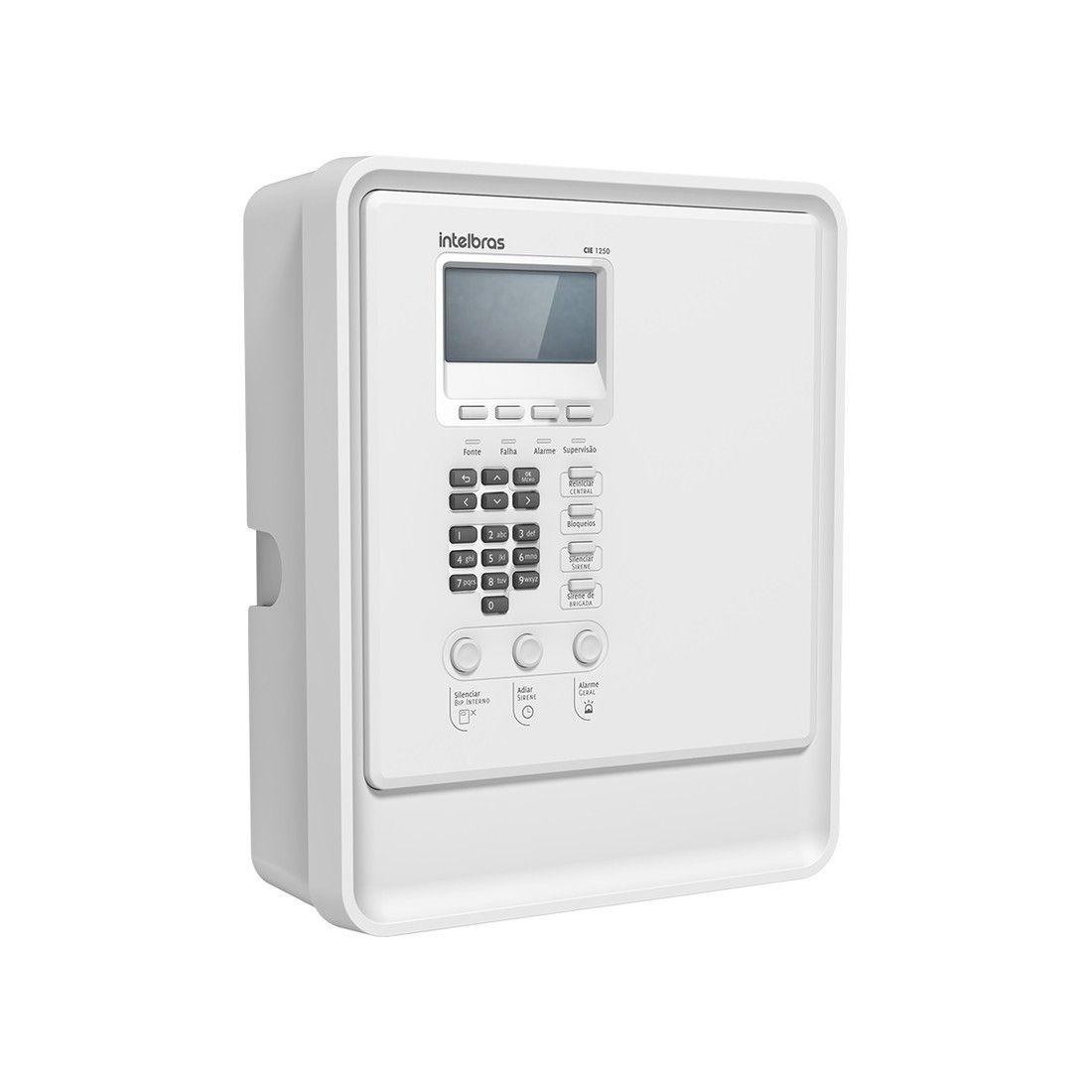 Central de Alarme de Incêndio Intelbras CIE 1250 Endereçável