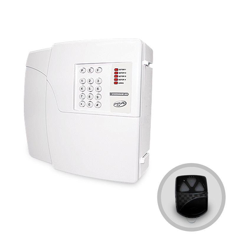 Central de Alarme PPA Codigus 4D Plus 4 Setores Discadora