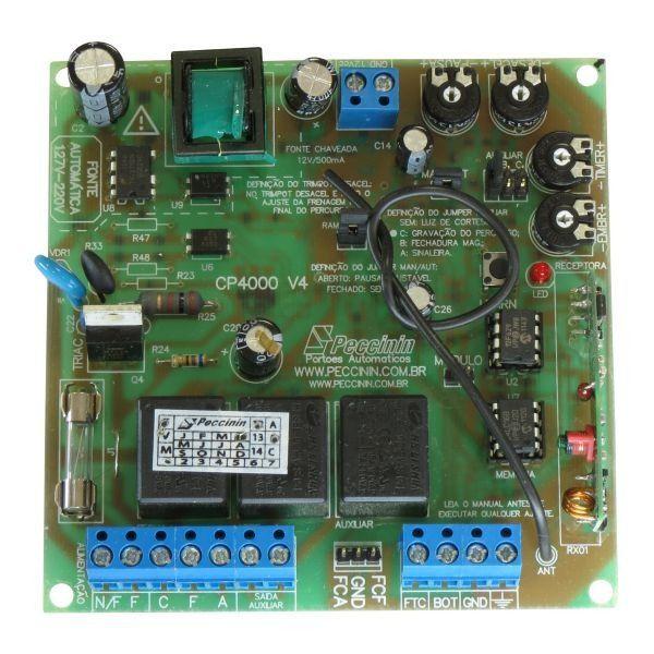 Placa Central Eletrônica Peccinin CP4000 Para Motor de Portão Eletrônico