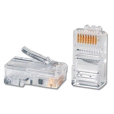 Conector RJ45 Cat.5e Plug Macho 8 Vias