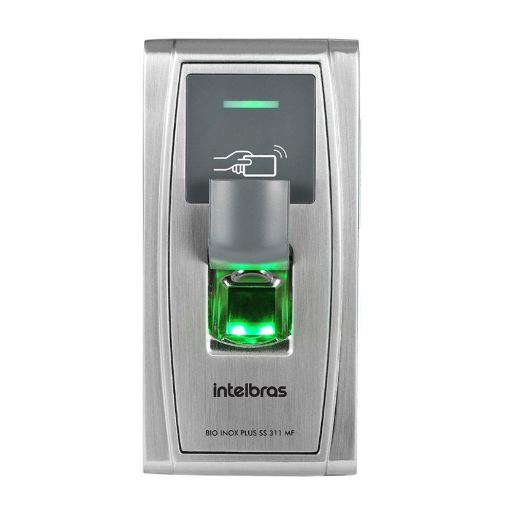 Controlador de Acesso Intelbras Bio Inox Plus SS 311 MF