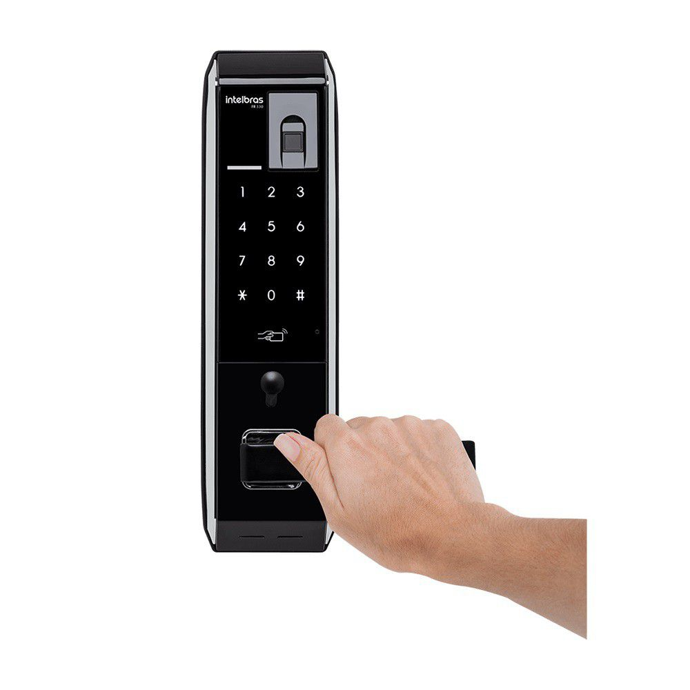 Fechadura Digital Intelbras FR 330 por Senha e Biometria