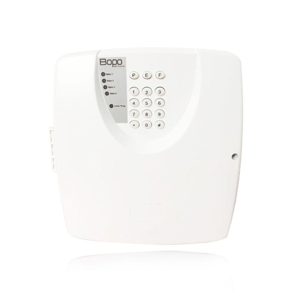 Kit Alarme Residencial Bopo 3 Sensores Sem Fio e Discadora