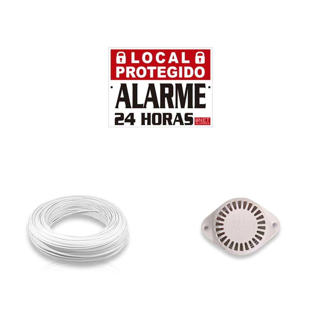 Kit Alarme Residencial Bopo 4 Sensores Com Fio e Discadora