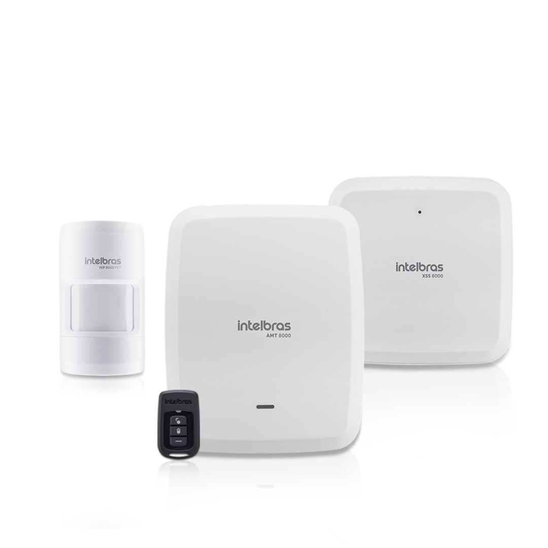 Kit Alarme Residencial Intelbras AMT 8000 com 1 Sensor IVP