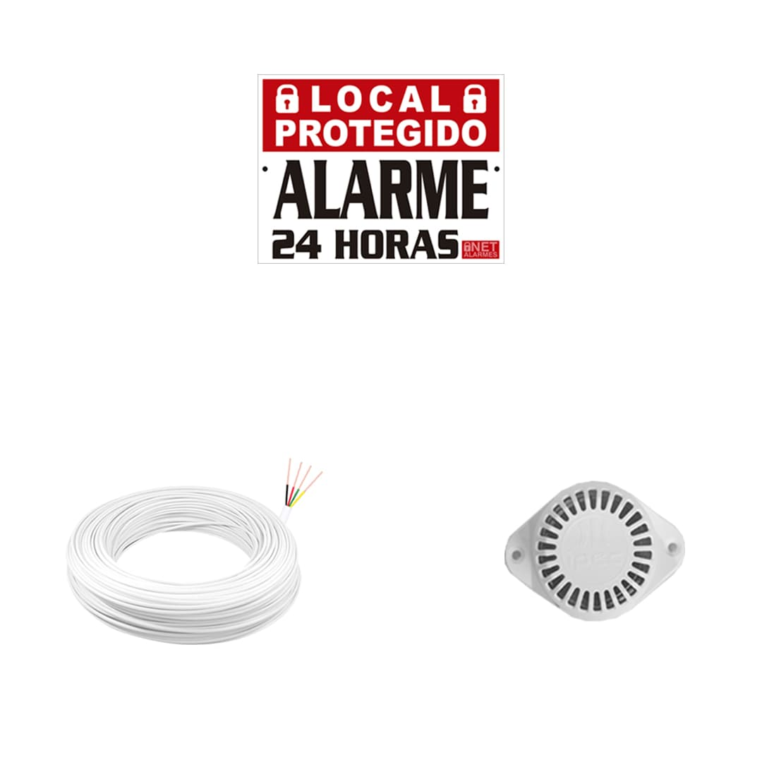 Kit Alarme Residencial Intelbras ANM 24 NET com 4 Sensores Com Fio