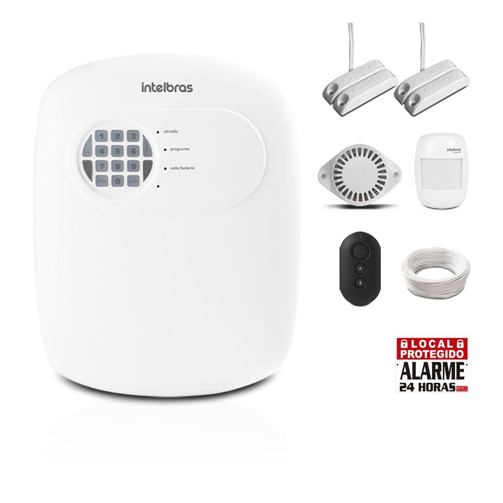 Kit Alarme Residencial Intelbras ANM 3004 ST Com 3 Sensores Com Fio