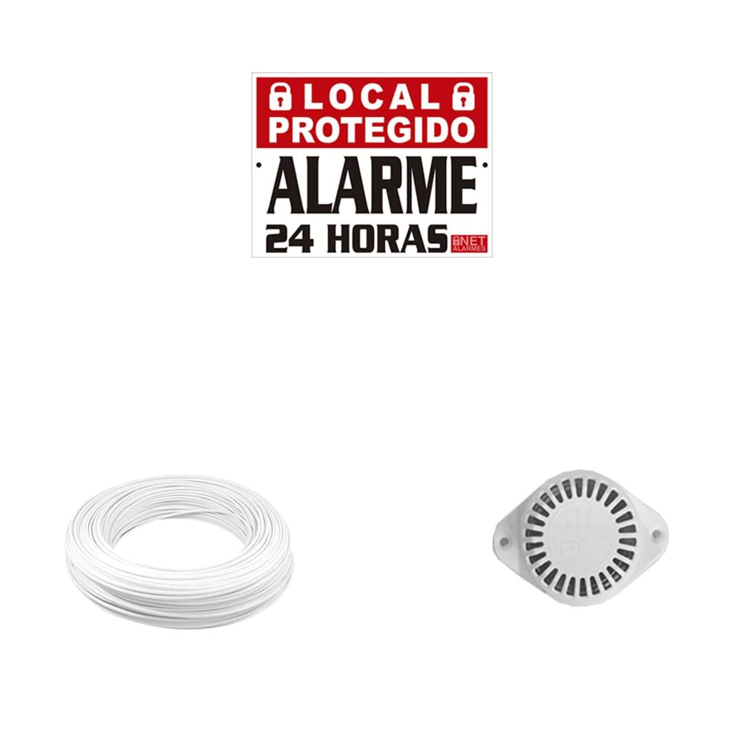 Kit Alarme Residencial Intelbras ANM 3004 ST Com 6 Sensores Sem Fio