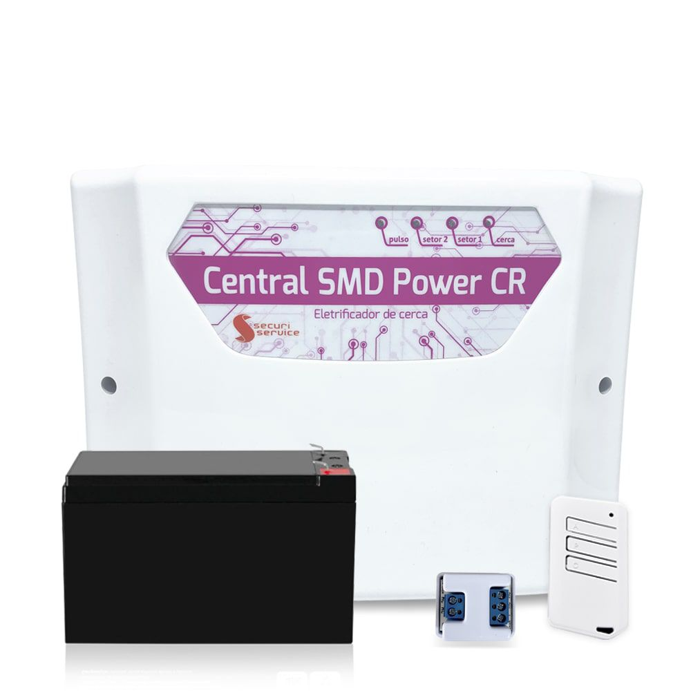 Kit Cerca Elétrica SMD Power CR Big Haste 100 Metros Aço Inox