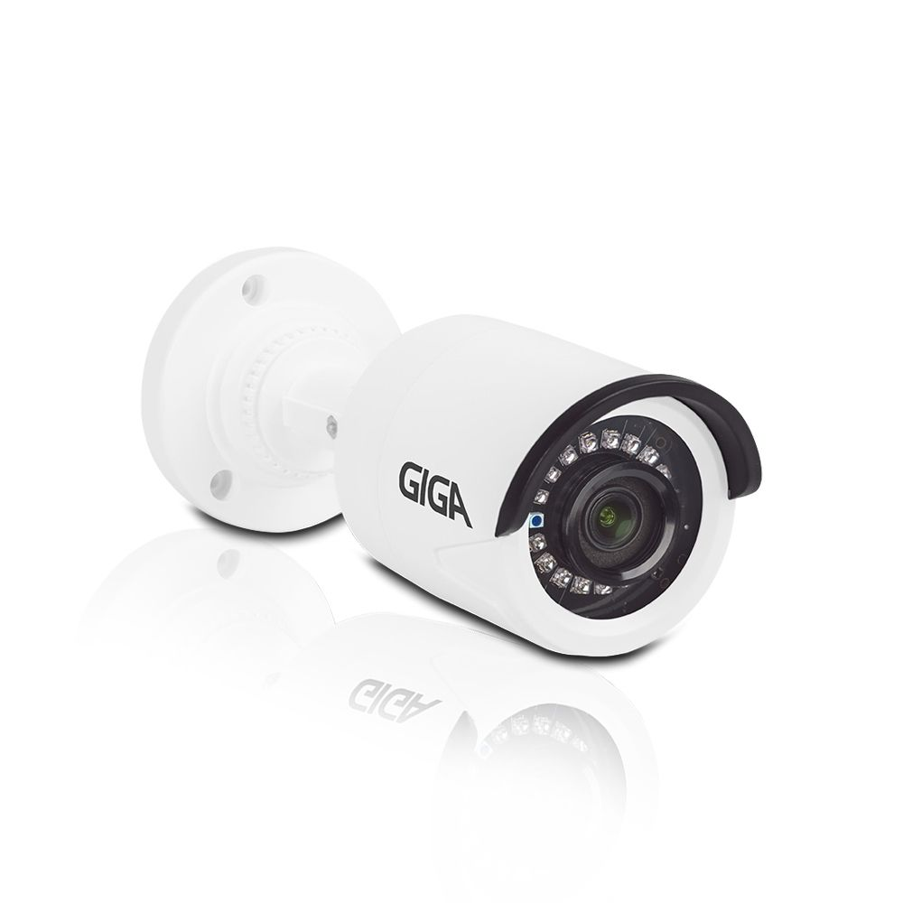 Kit CFTV 16 Câmeras Bullet Giga 720p DVR Intelbras 16 canais