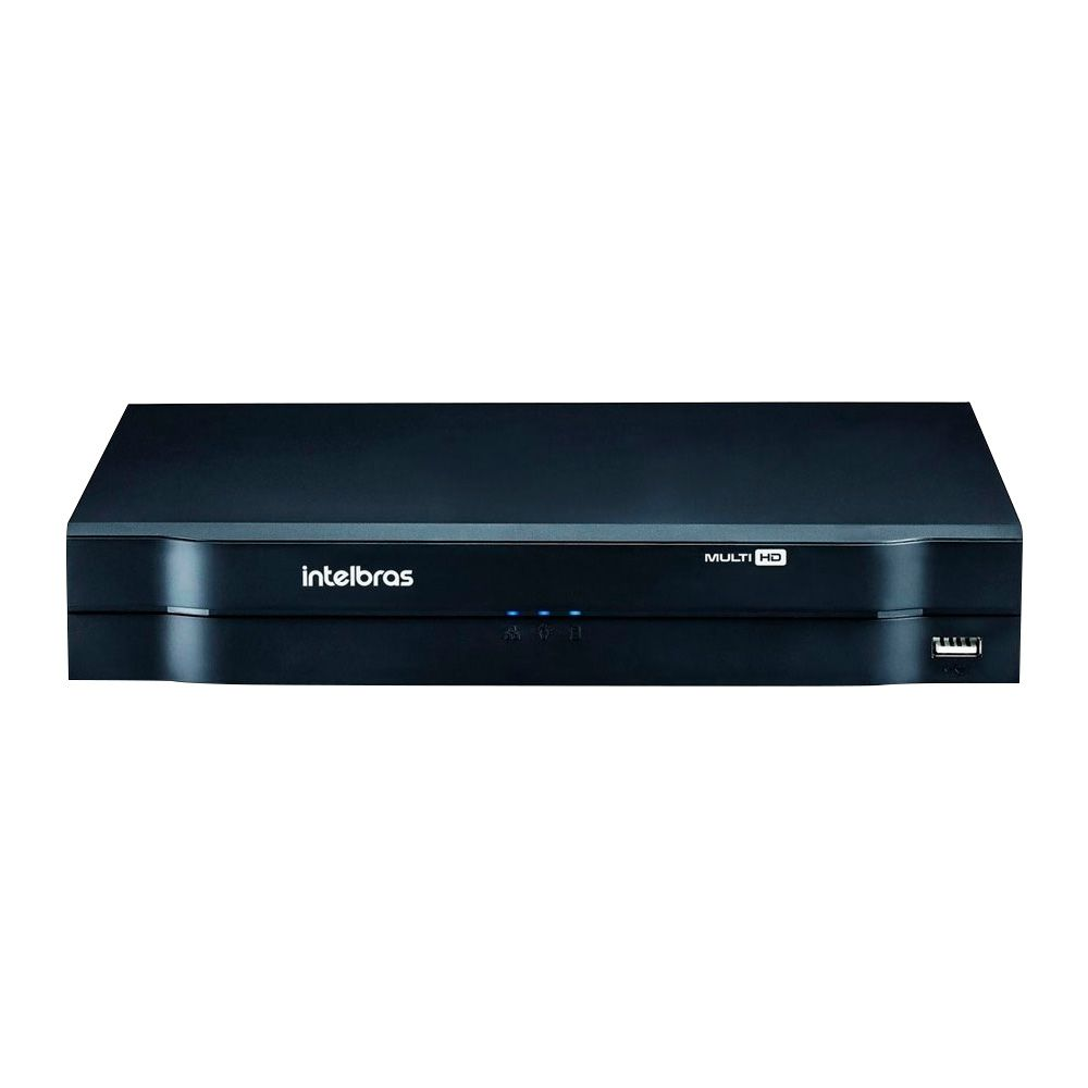 Kit CFTV 8 Câmeras Bullet Giga 720p DVR Intelbras 8 canais