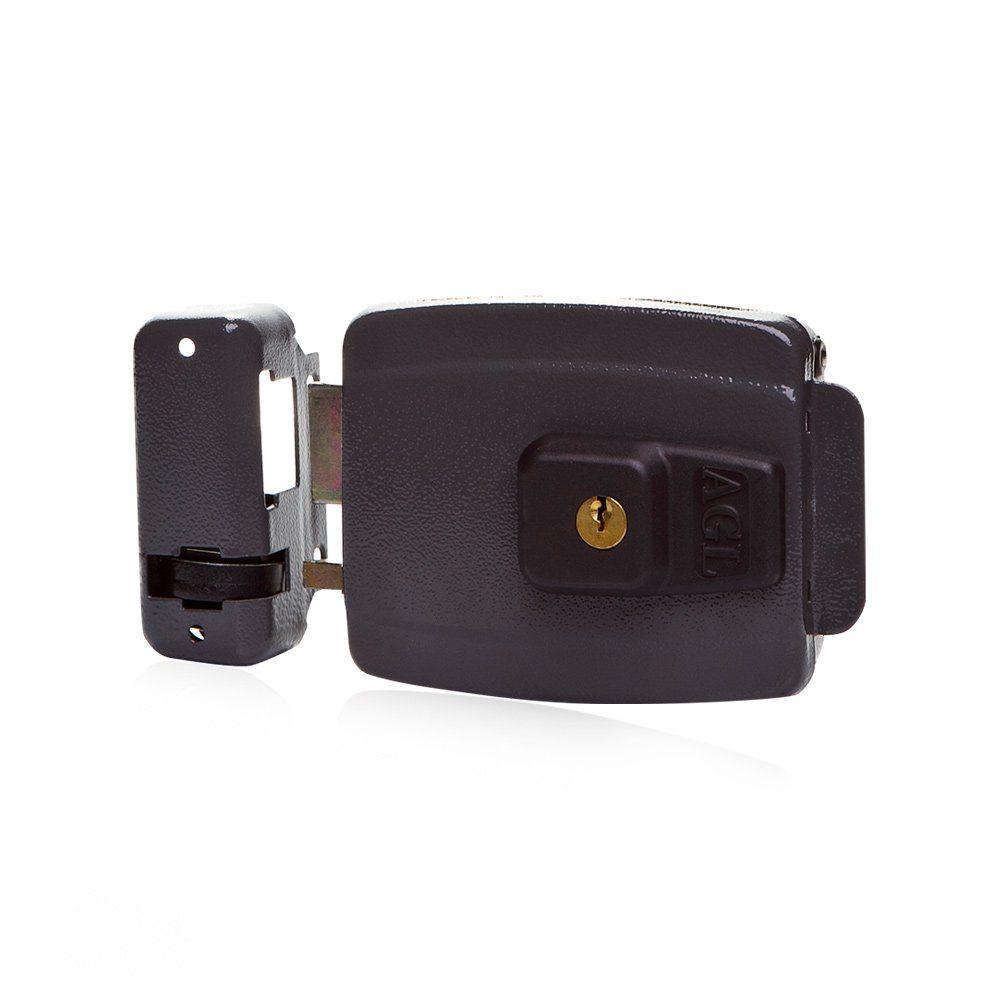 Kit Fechadura Elétrica com Controles Receptor e Fonte