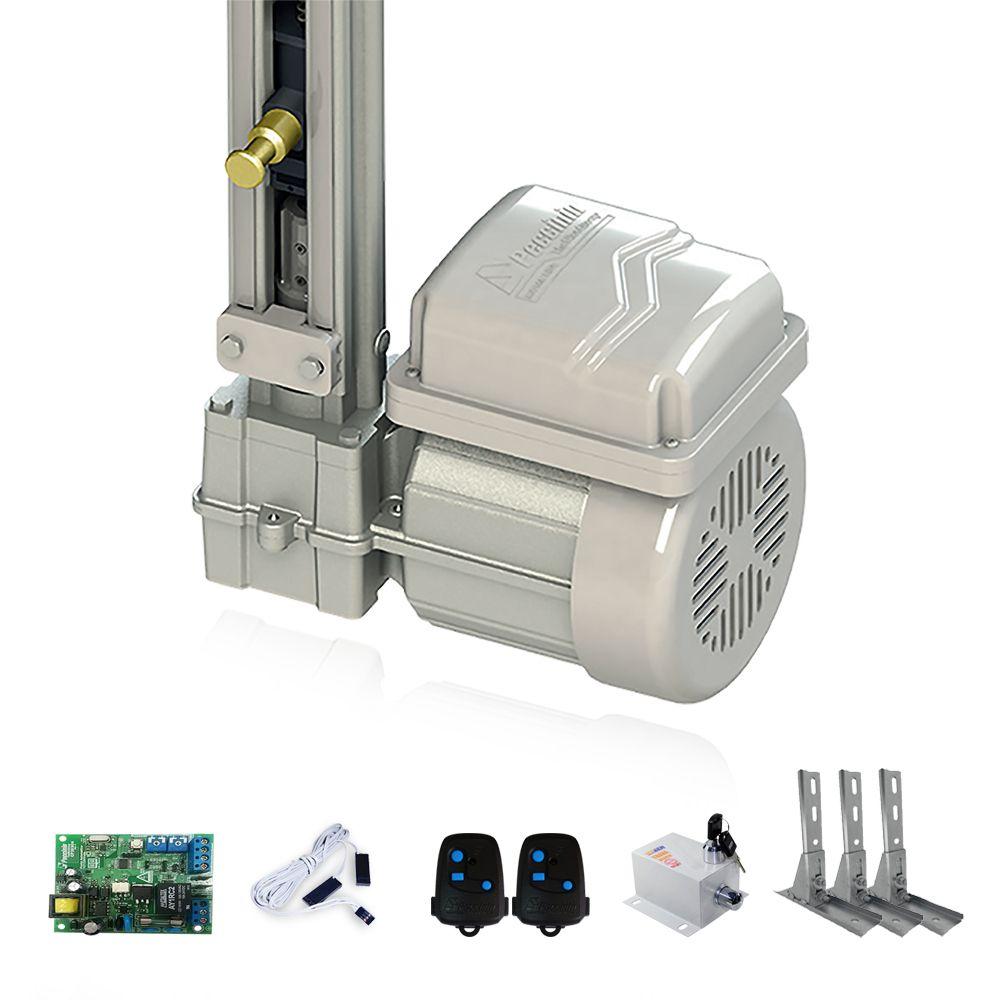 Kit Motor para Portão Basculante Peccinin Fast Gatter + Suportes + Trava