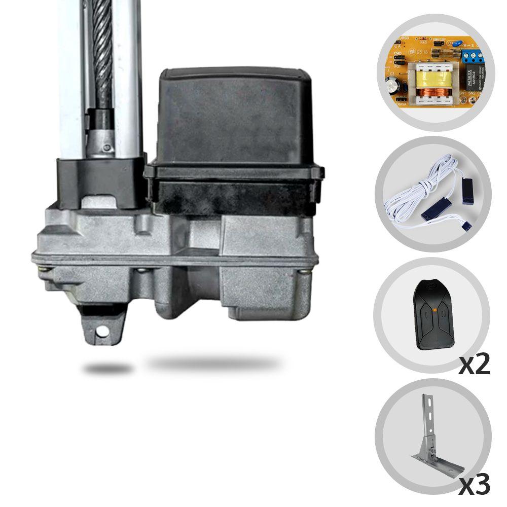 Kit Motor de Portão Eletrônico Basculante PPA BV Home R 1/4 Hp + Suportes