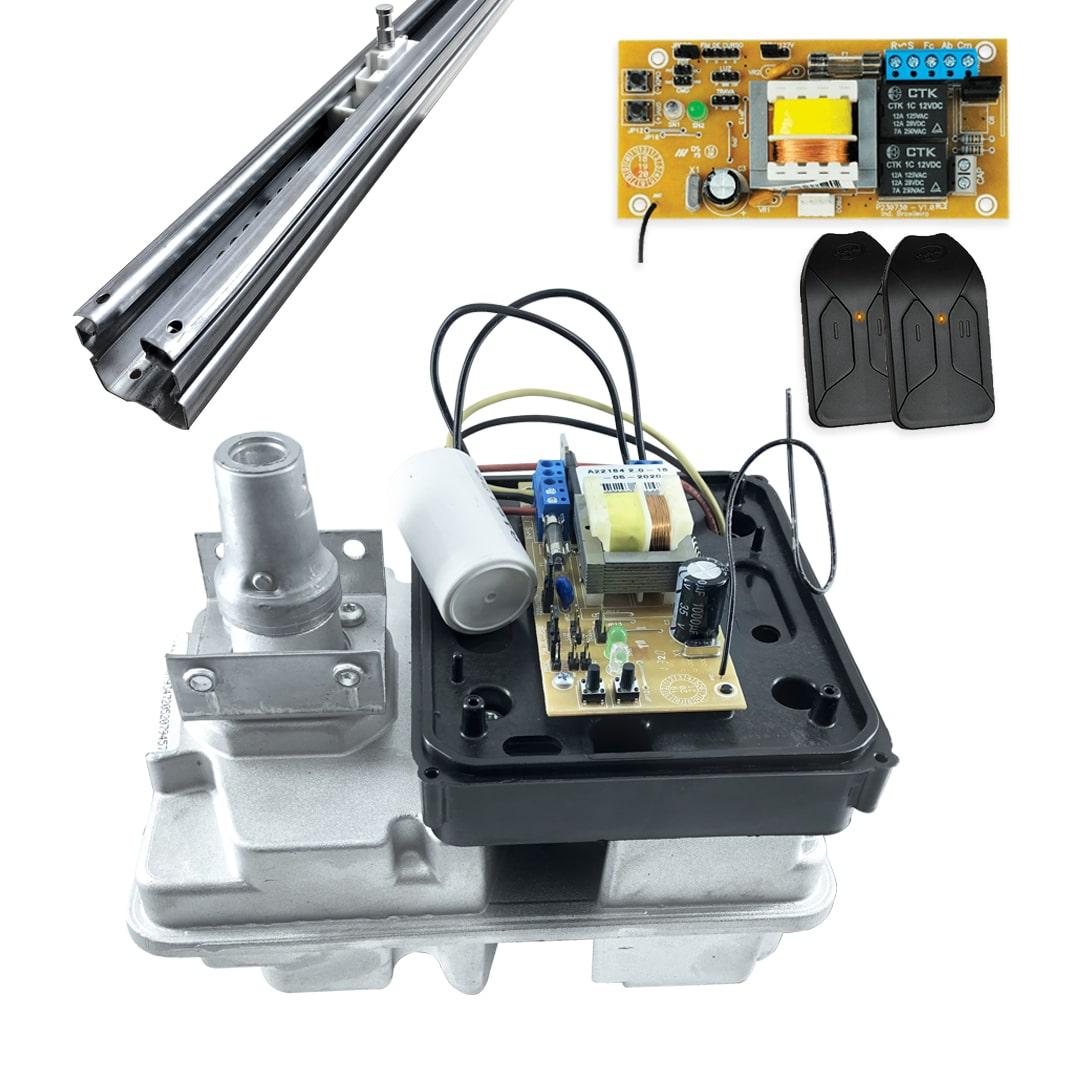 Kit Motor de Portão Basculante PPA Levante R 1/4 + Suportes