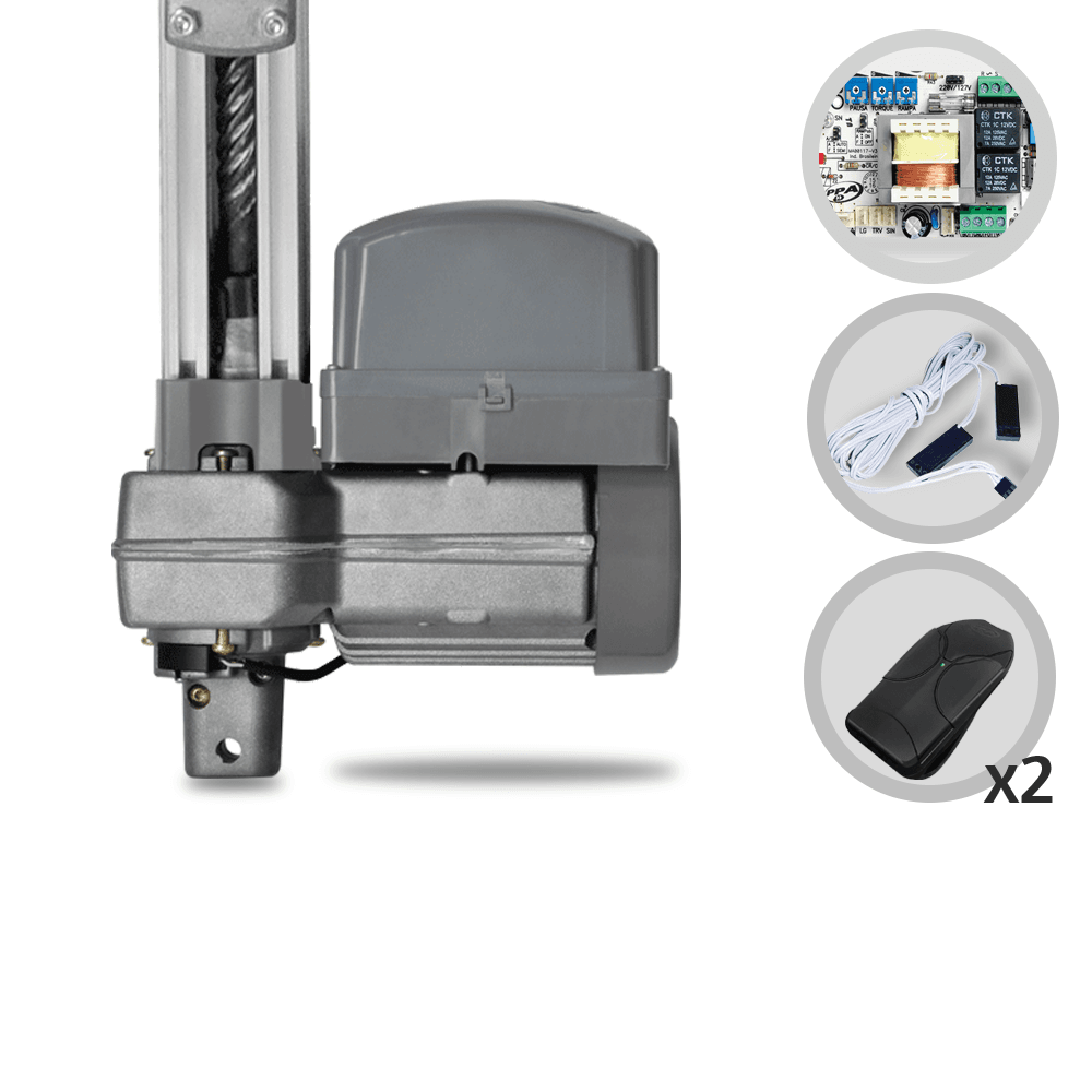 Kit Motor de Portão Basculante PPA Penta Condomínio 1/2 Hp 1,40 metros Central 4 Trimpot