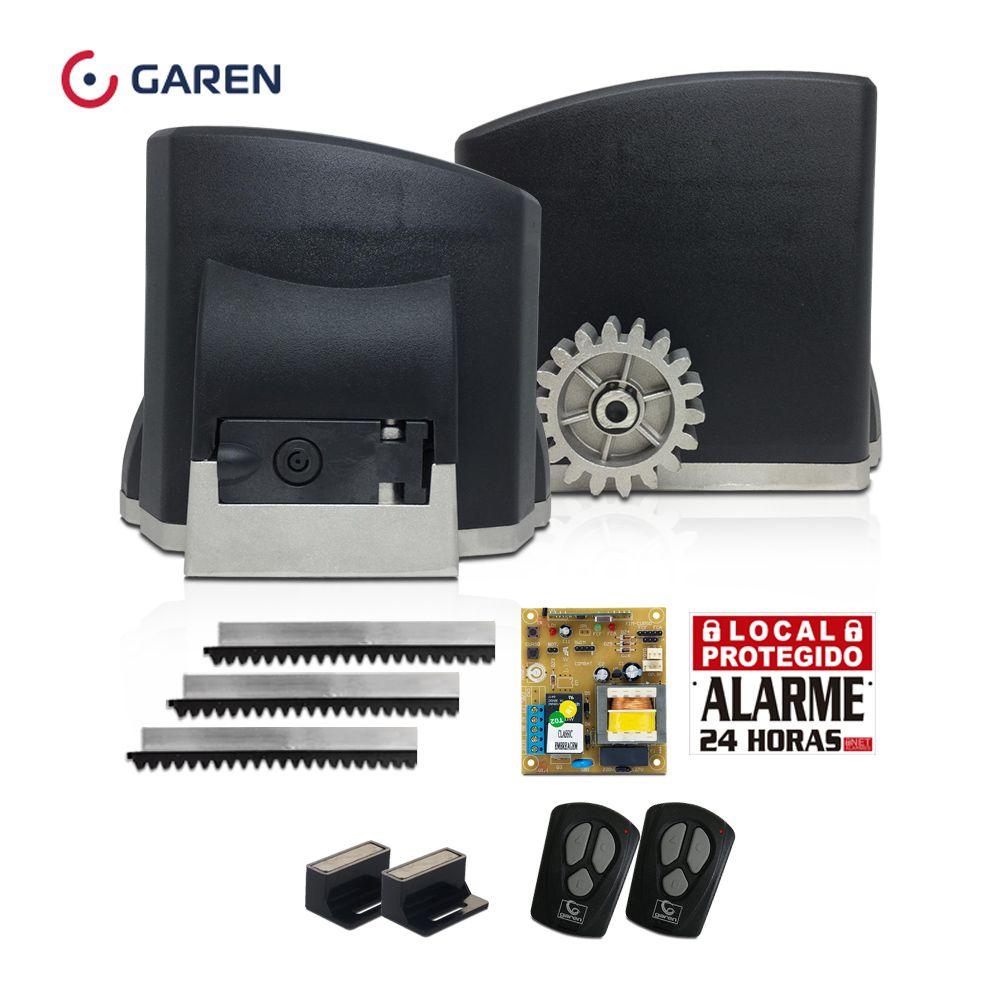 Kit Motor de Portão Deslizante Garen KDZ FIT 1/4 HP