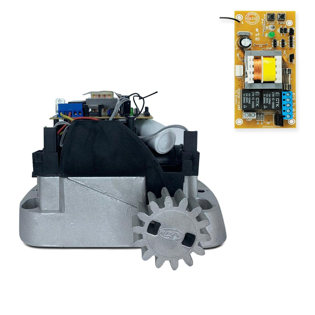 Kit Motor de Portão Deslizante PPA Dz Home 300 1/4 HP + Base