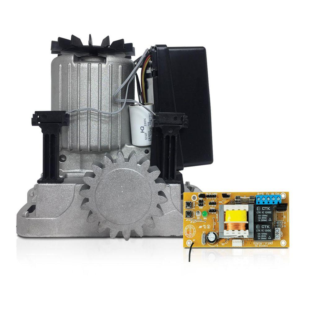 Kit Motor de Portão Eletrônico Deslizante PPA Dz R500 1/3 HP