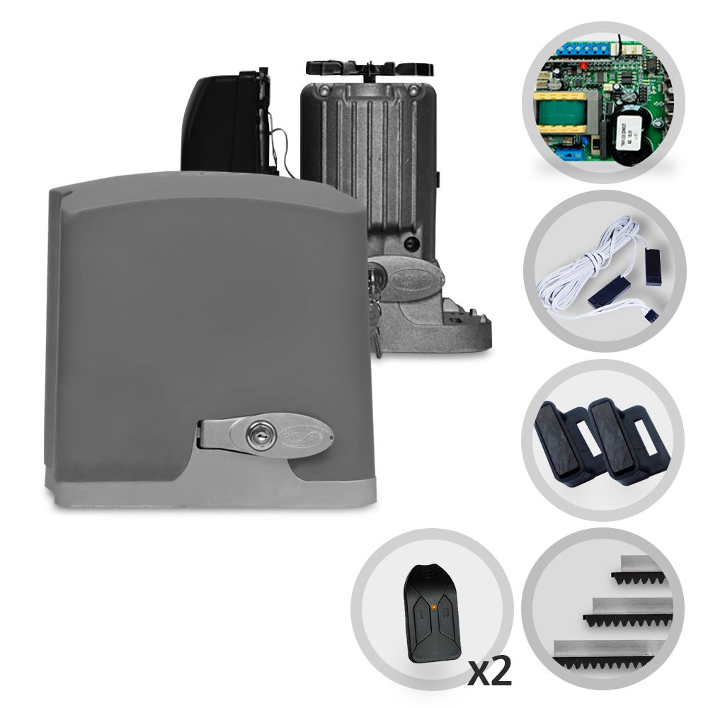 Kit Motor de Portão Deslizante PPA R500 1/3 Jet Flex Connect