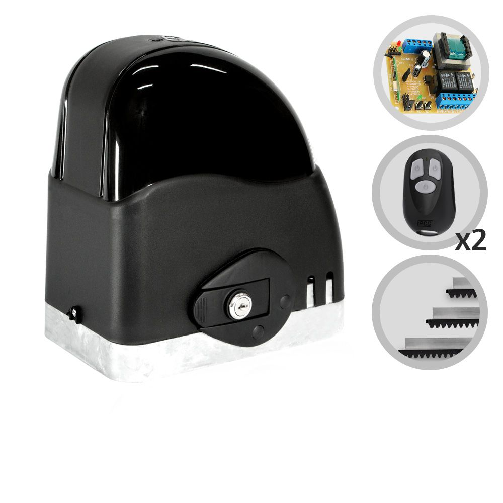 Kit Motor de Portão Deslizante RCG Slider AL Fast 1/4 HP
