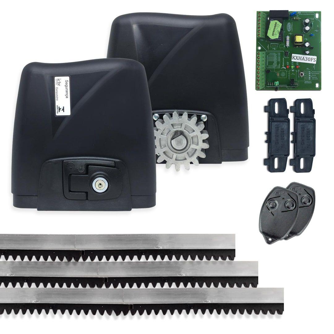 Kit Motor de Portão Deslizante Rossi Dz Atto 1/4 Hp