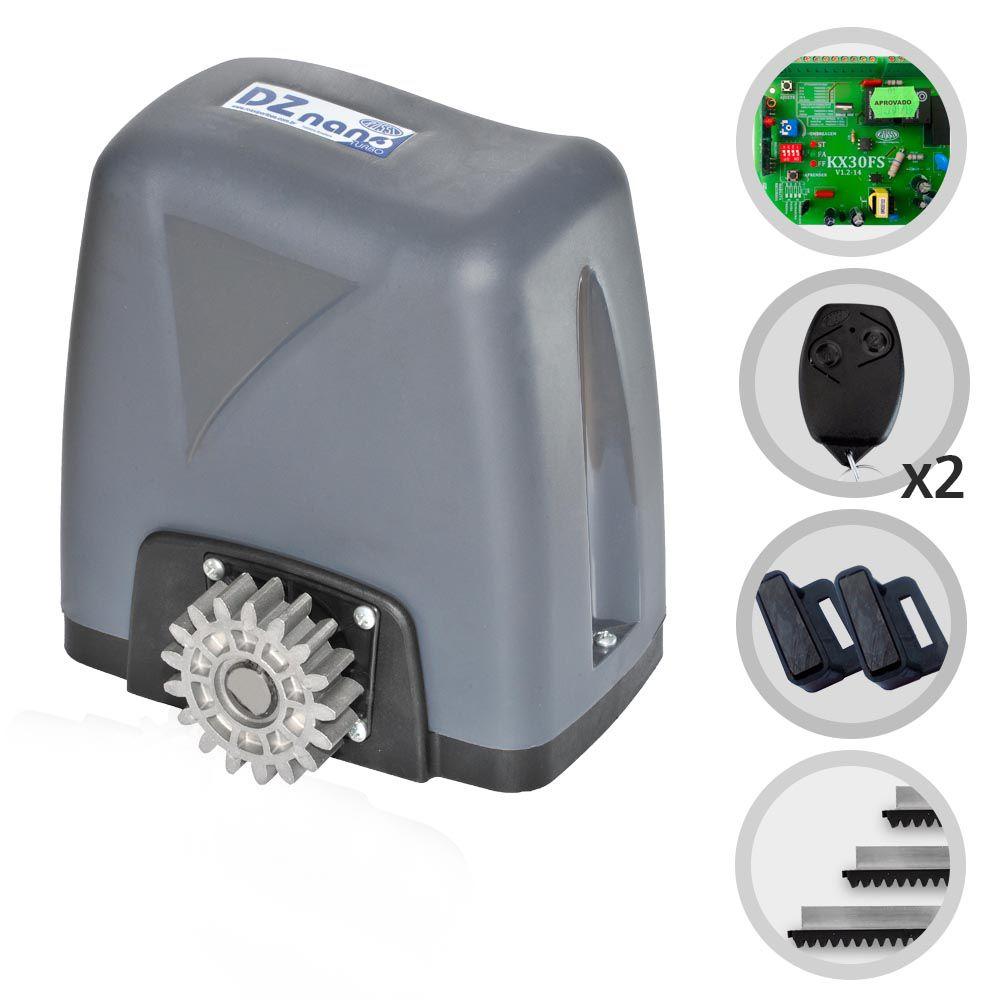 Kit Motor de Portão Eletrônico Deslizante Rossi Dz Nano 1/4 Hp
