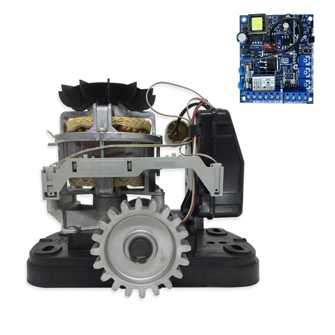 Kit Motor de Portão Eletrônico Deslizante Peccinin Fast Gatter + Base