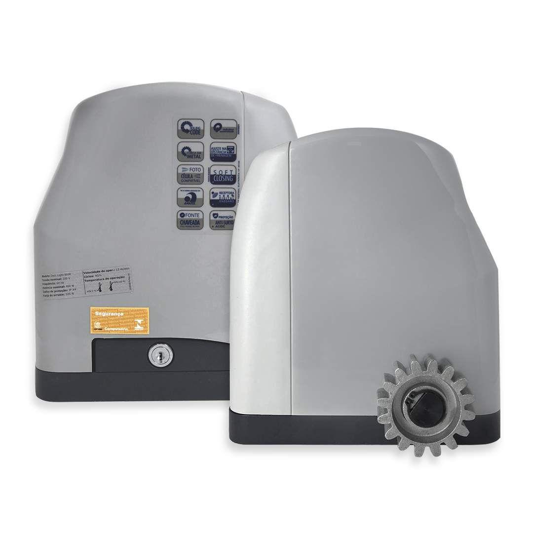 Kit Motor de Portão Eletrônico Deslizante Peccinin Light 500R 1/2 Hp