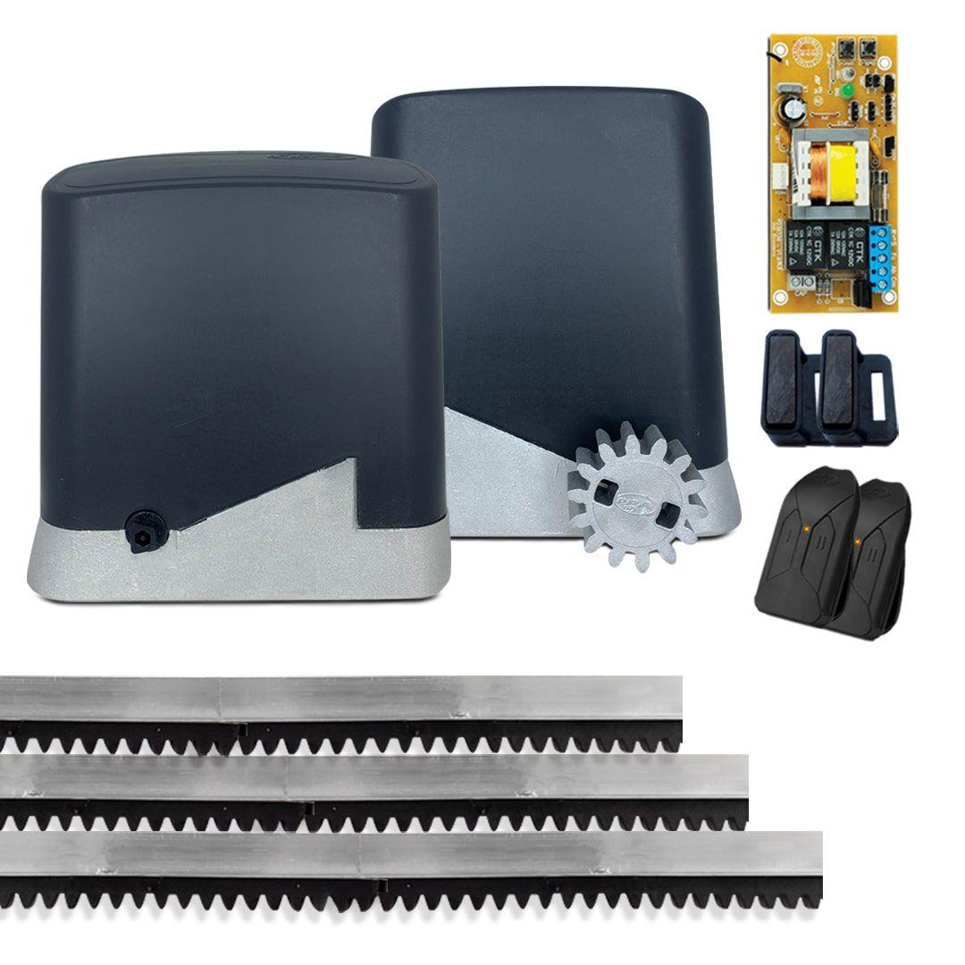 Kit Motor de Portão Eletrônico PPA Dz Home 300 1/4 Hp