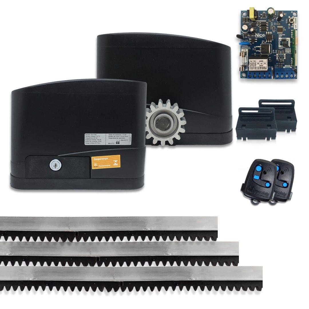 Kit Motor de Portão Eletrônico Residencial Peccinin Fan 1/4 Hp