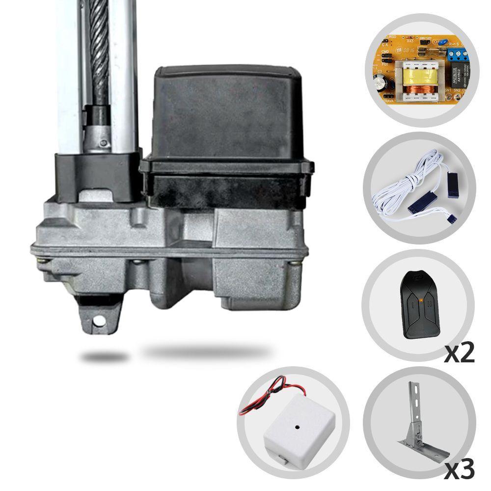 Kit Motor de Portão Basculante PPA BV Home R 1/4 Hp Suporte + Tx Car
