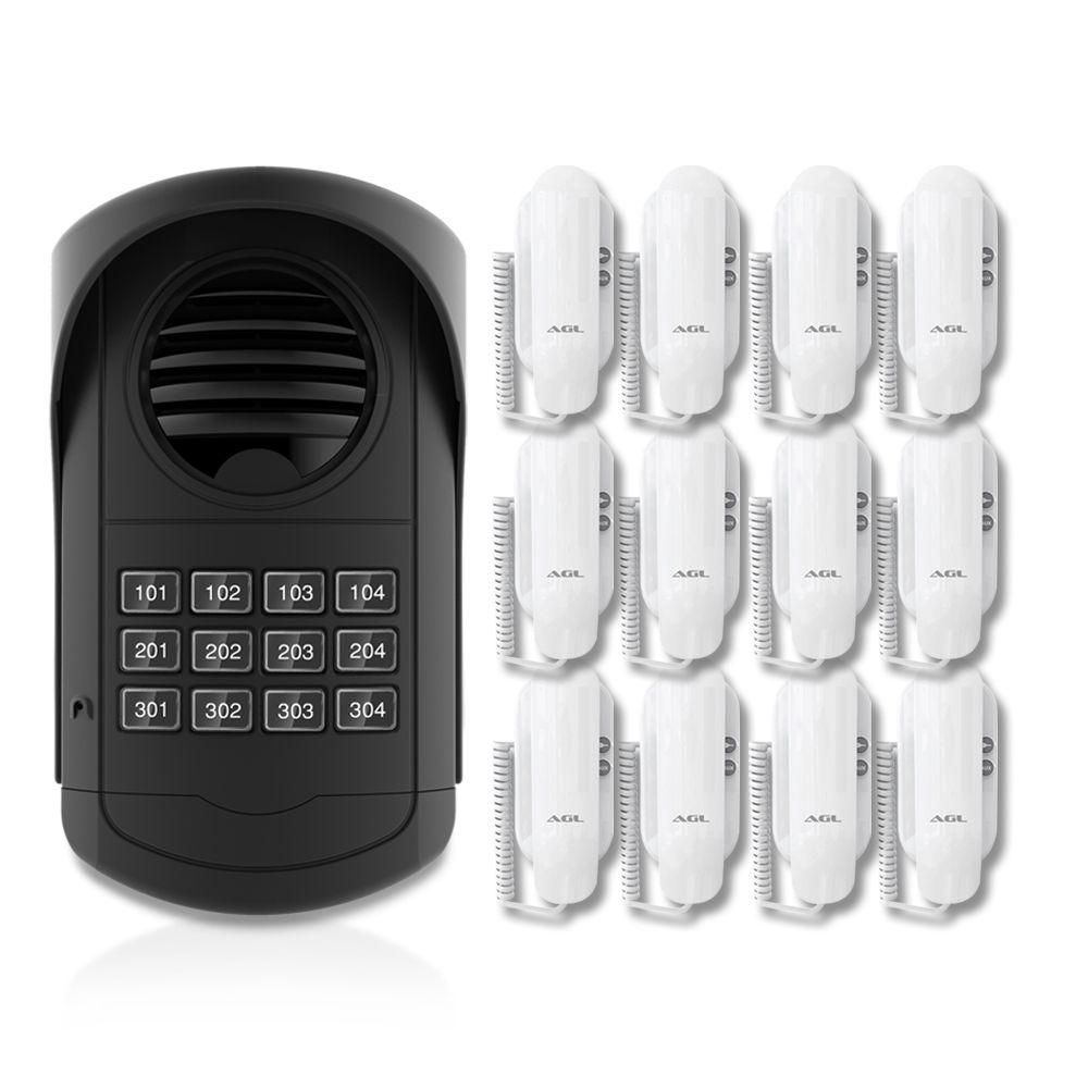 Kit Porteiro Eletrônico Coletivo AGL 12 Pontos S300 Com 12 Monofones