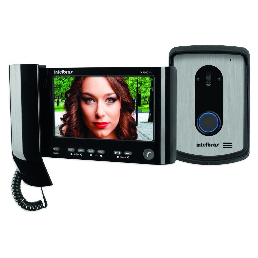Kit Vídeo Porteiro Interfone Intelbras IV 7010 HS Monofone