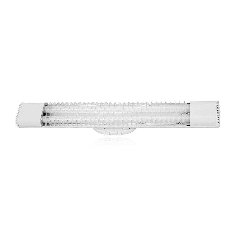 Luminária Slim Fluor ECP + 2 Lâmpadas Slimfluor 18W Bivolt