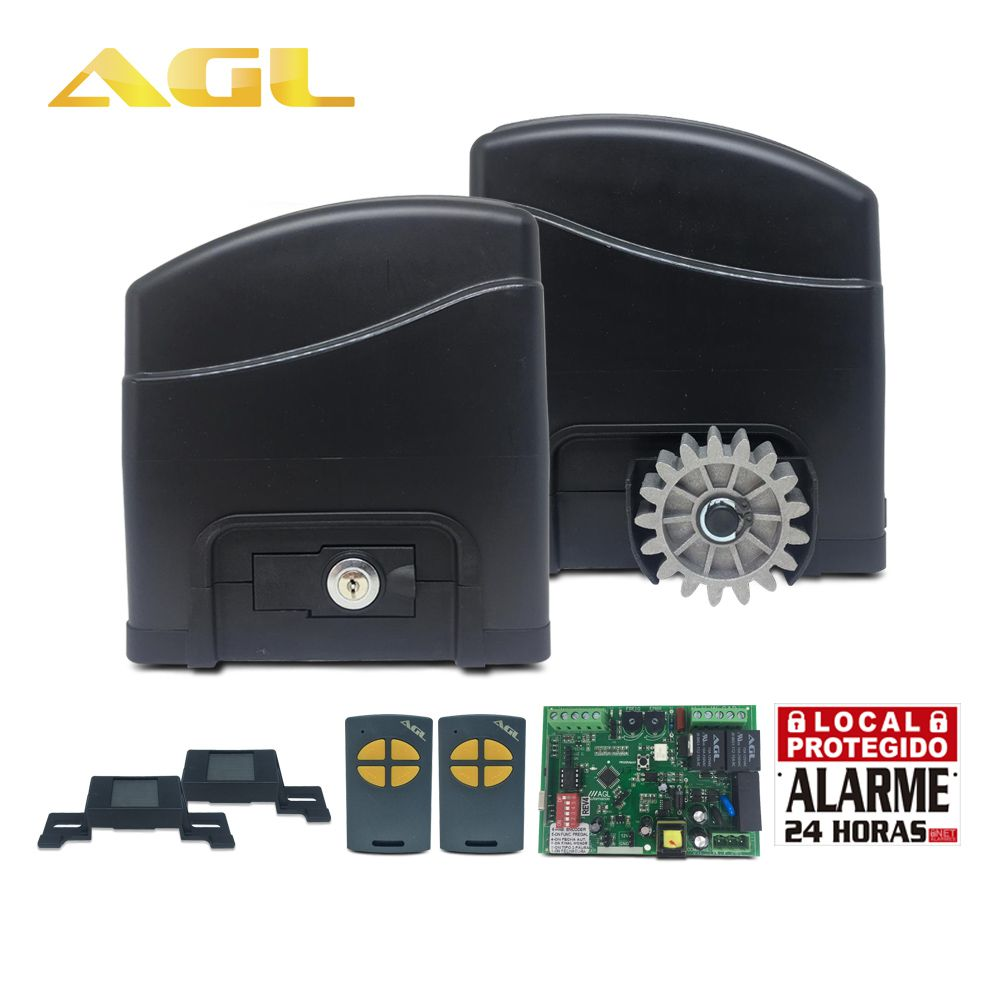 Motor De Portão Deslizante AGL Trino 300 1/4 HP Avulso