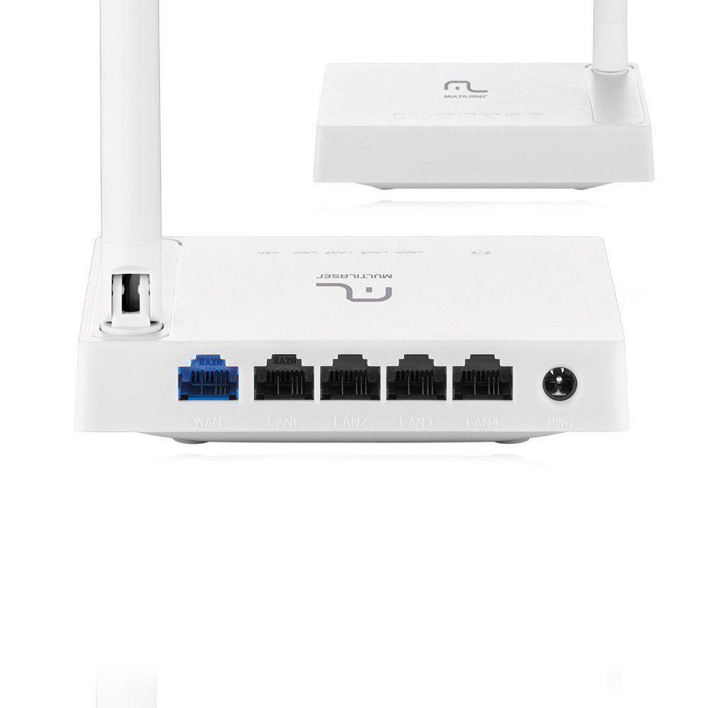 Roteador Multilaser Wireless 150Mbps 1 Antena Fixa 4 Portas Lan RE057