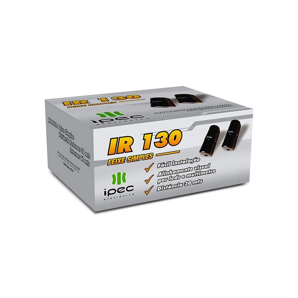 Sensor de Barreira Ativo IPEC IR 130 Feixe Simples 30 Metros