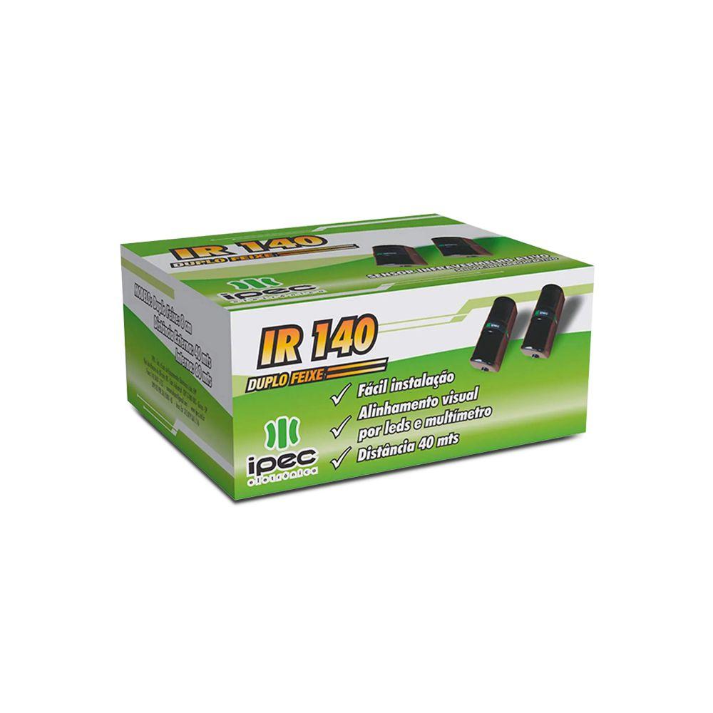 Sensor de Barreira Ativo IPEC IR 140 Duplo Feixe 40 Metros