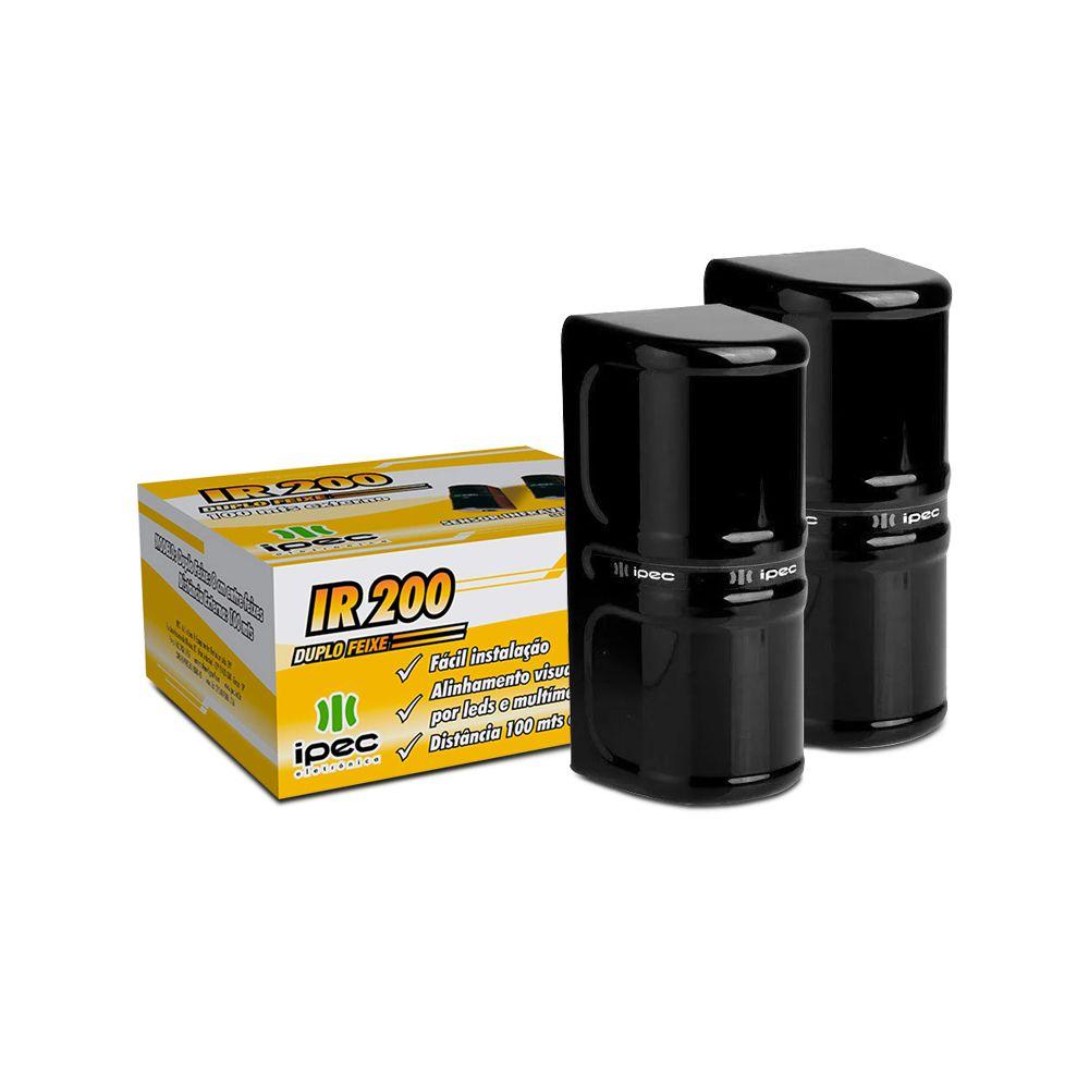 Sensor de Barreira Ativo IPEC IR 200 Duplo Feixe 100 Metros