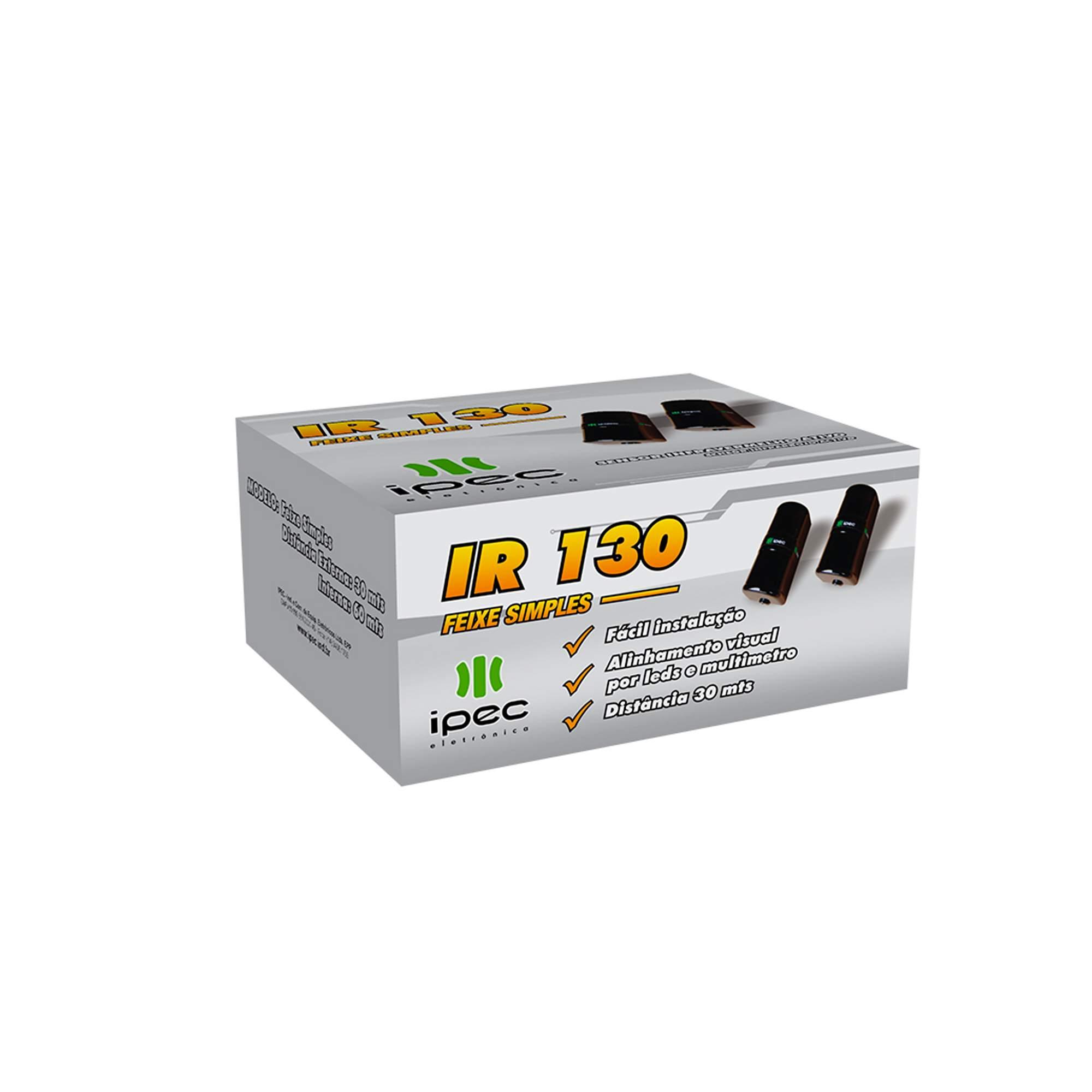 Sensor Ativo de Barreira IPEC IR 130 Feixe Simples 30 Metros