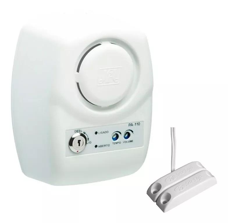 Sensor de Porta Aberta JFL PA 110 E Sensor Magnético Com Fio