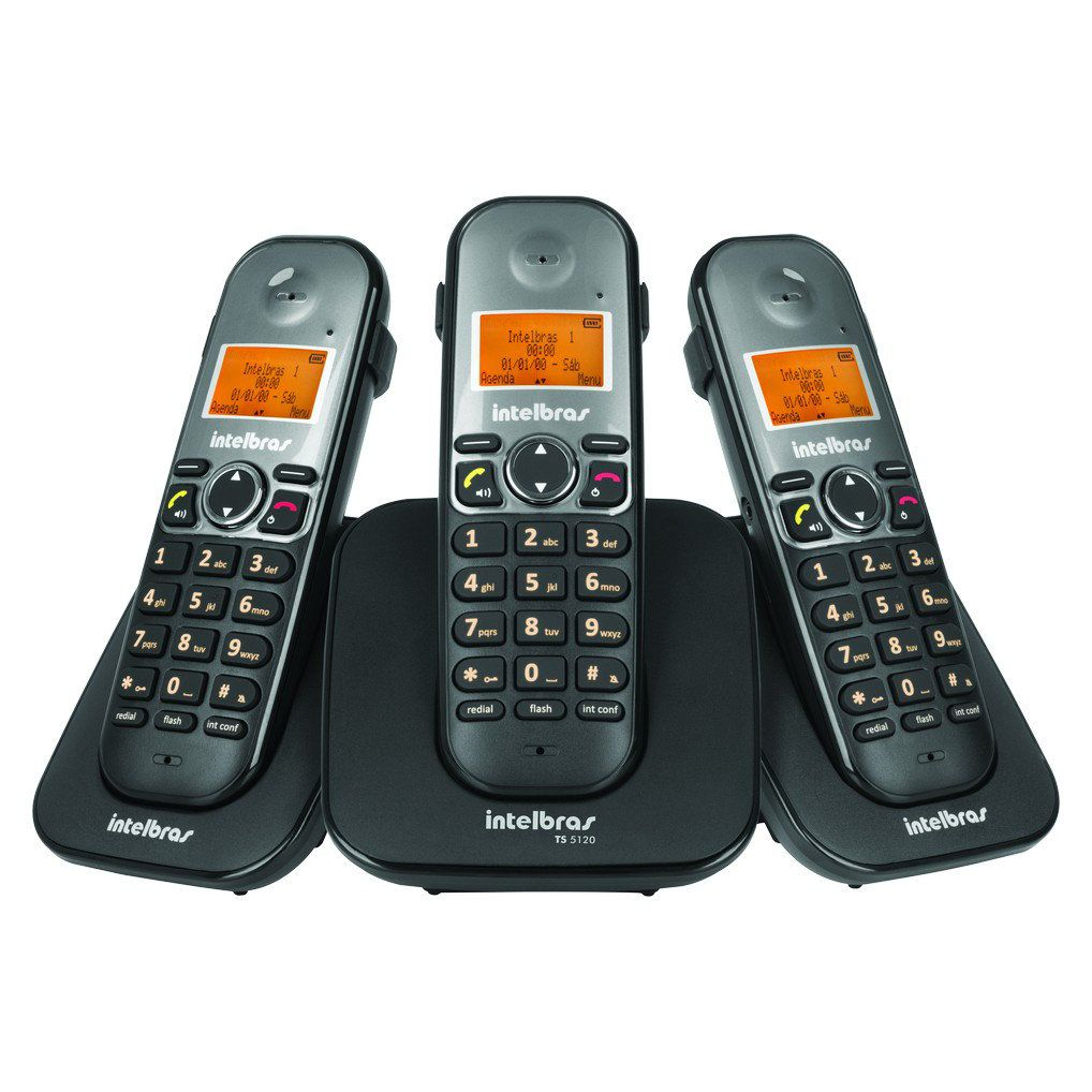 Telefone Sem Fio com 2 Ramais Intelbras TS 5123 Digital