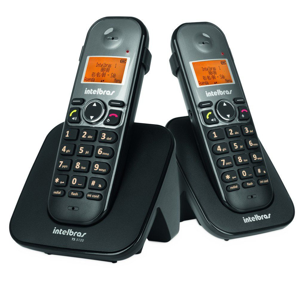 Telefone Sem Fio com Ramal Intelbras TS 5122 Digital