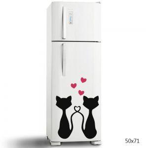 Adesivo de Geladeira Cats Couple