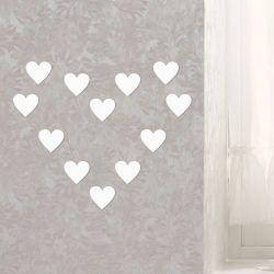 Espelho Decorativo Kit Mini Corações